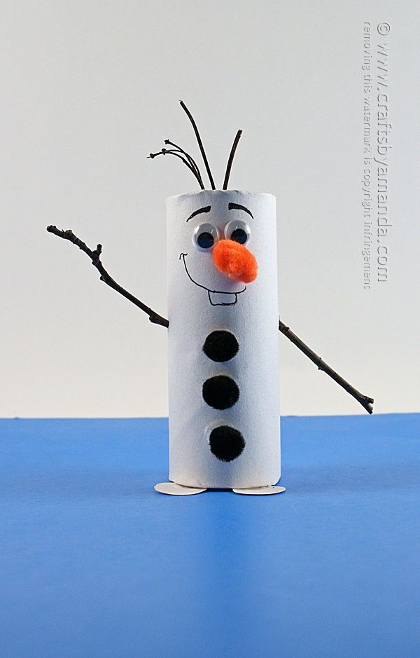 Cardboard tube Olaf Tutorial