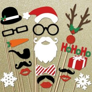 Christmas Party Ideas - Free Printable Christmas Photo Booth Props