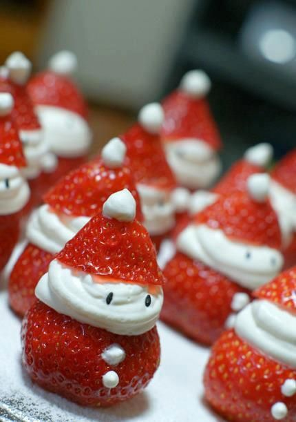Easy To Make Santa Strawberries Christmas Party Ideas For Kids