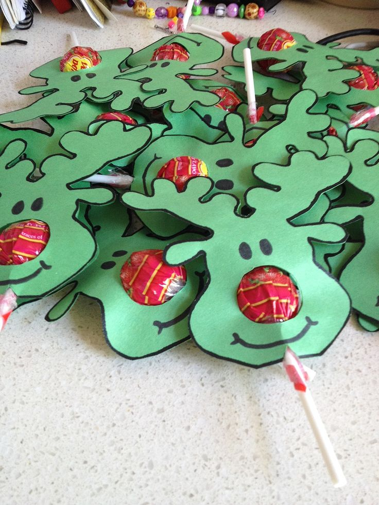 christmas party ideas for kids reindeer face lollipops - Childrens Christmas Party Decoration Ideas