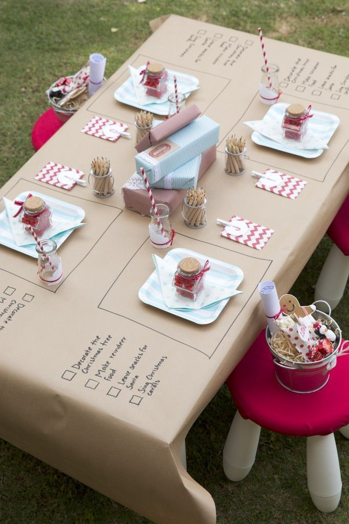 Ideas For Christmas Party For Kids Part - 49: Christmas Party Themed Table Decoration For Kids