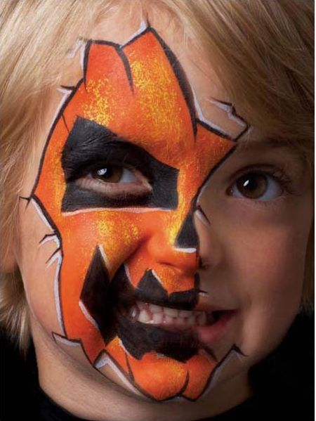 halloween face painting ideas for kids jack olantern halloween face painting tutorial