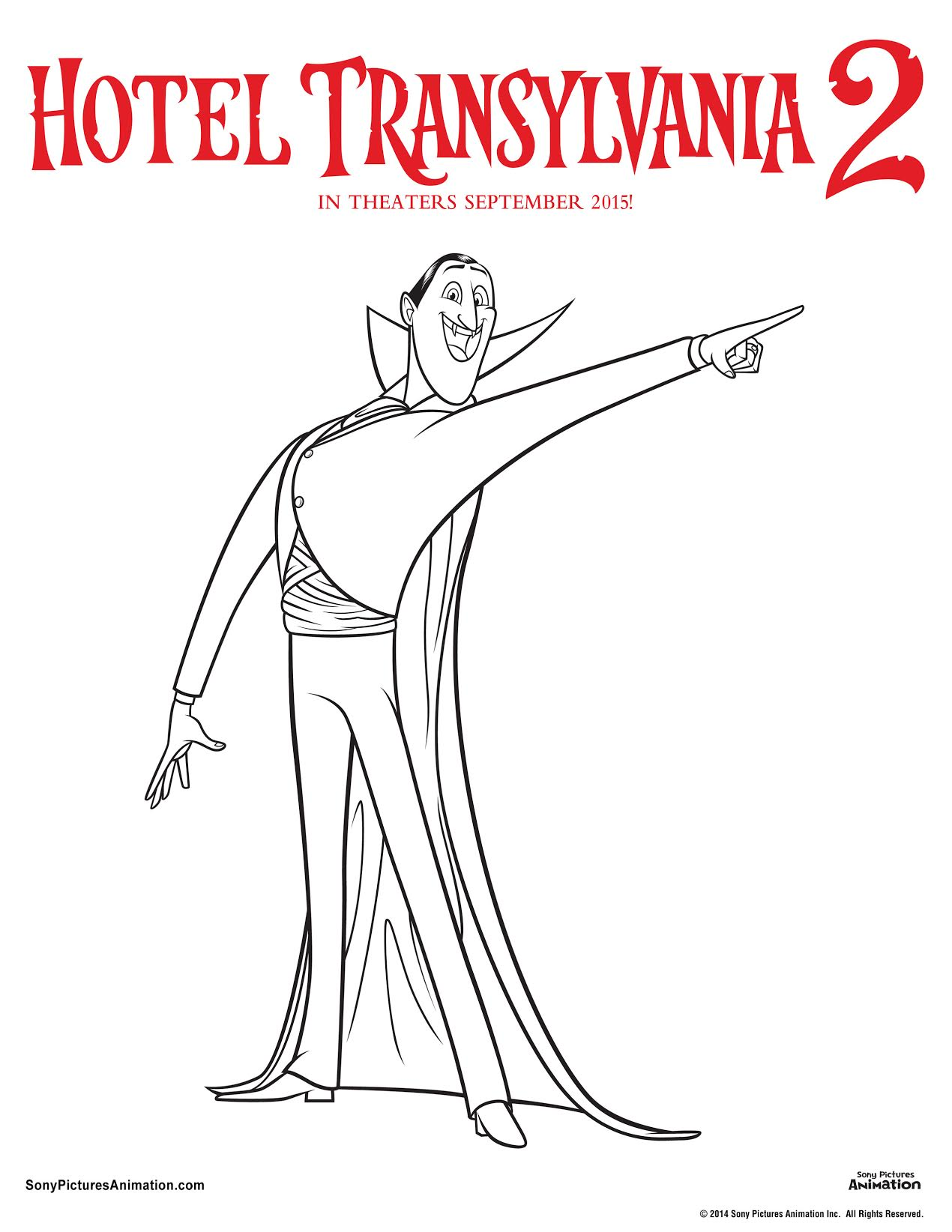 print hotel transylvania coloring pages - photo#4