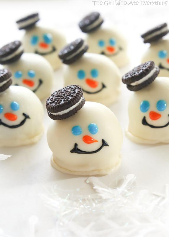 Melting Snowmen Oreo Balls