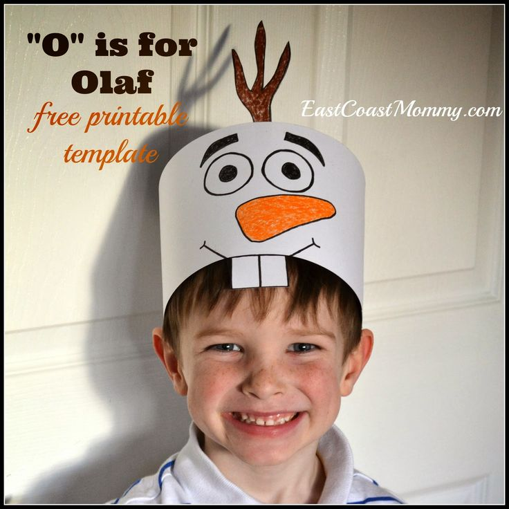 Olaf free printable hat tutorial