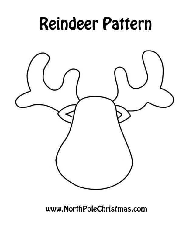 Reindeer colouring sheet printable