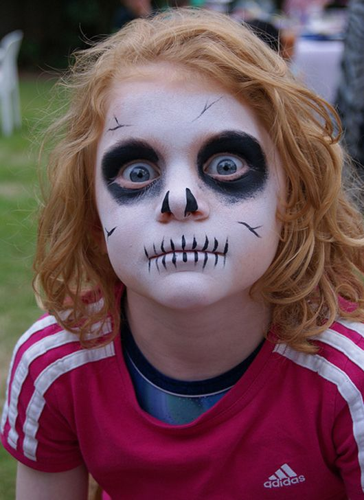 Scary Skull Halloween Face Paint Ideas for Kids