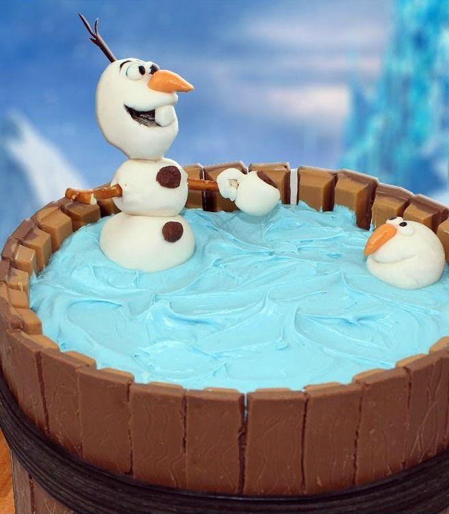 frozen olaf kit-kat cake tutorial