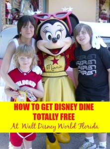 Free Disney Dining Plan 2016 at Walt Disney World Florida