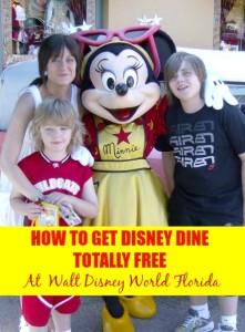 Free Disney Dining Plan 2016 at Walt Disney World Florida