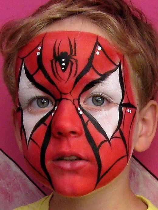 spiderman halloween face paint idea