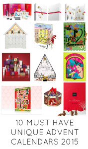 10 MUST HAVE UNIQUE ADVENT CALENDARS 2015