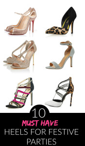 10 Must Have Christmas Party Heels 2015