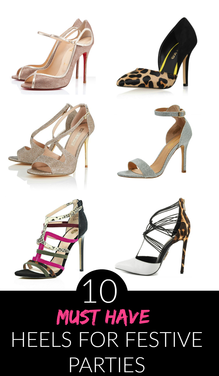 10 Must Have Makeup Palettes For 2017: 10 Must Have Christmas Party Heels 2015