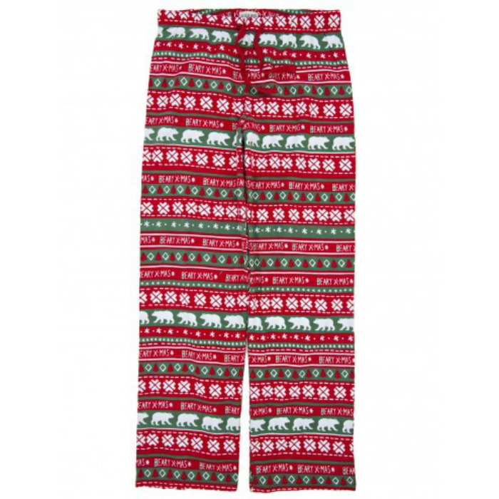 Christmas Gifts for Him 2015 - BEARY X-MAS MEN'S FLANNEL PJ BOTTOMS