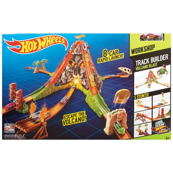 Christmas Gifts for Kids 2015 - hot-wheels track builder volcano blast