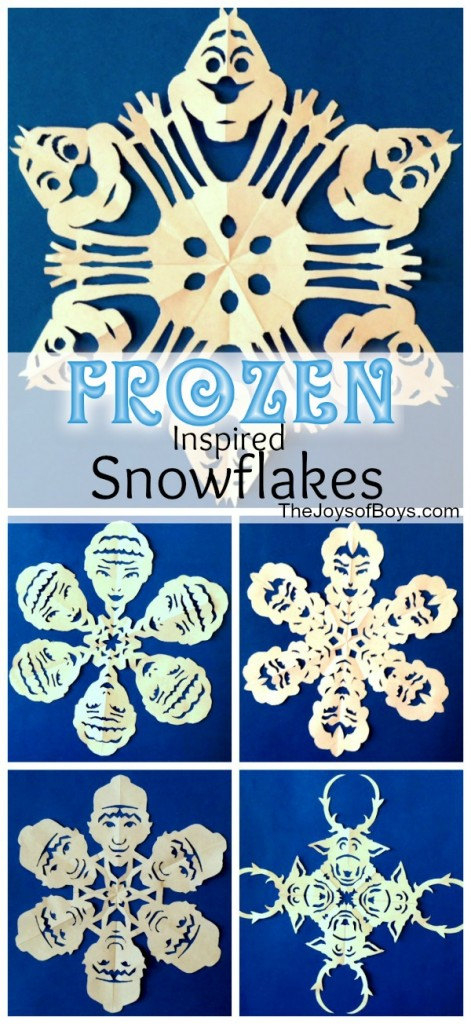 DIY Frozen Christmas Decoration Paper Snowflake Faces