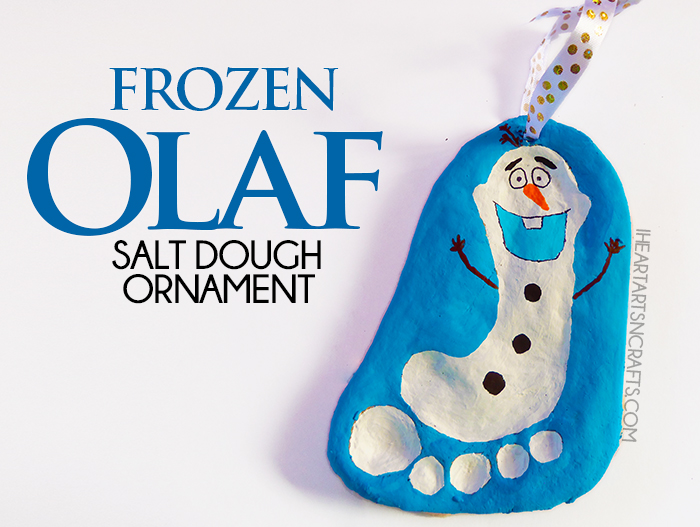 DIY Frozen Christmas Decorations Frozen Salt Dough Ornament