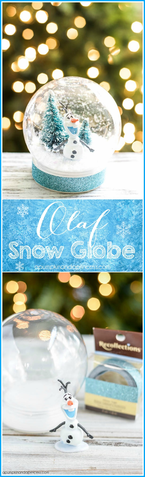 DIY Frozen Christmas Decorations Olaf Snow Globe