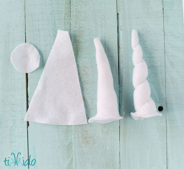 Easy Felt Unicorn Horns