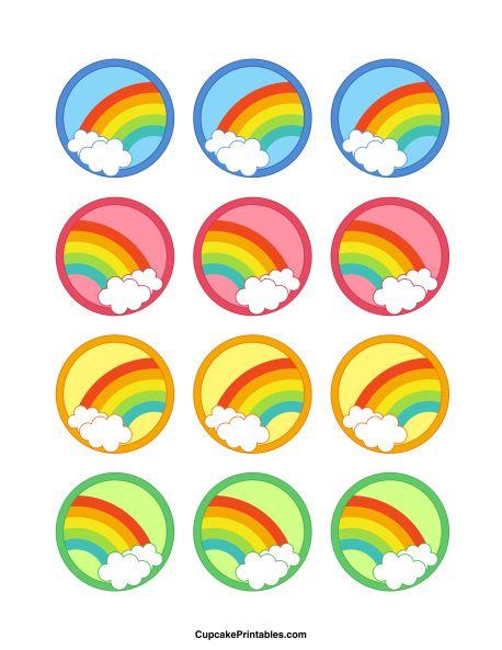 Free Unicorn Cupcake Printables