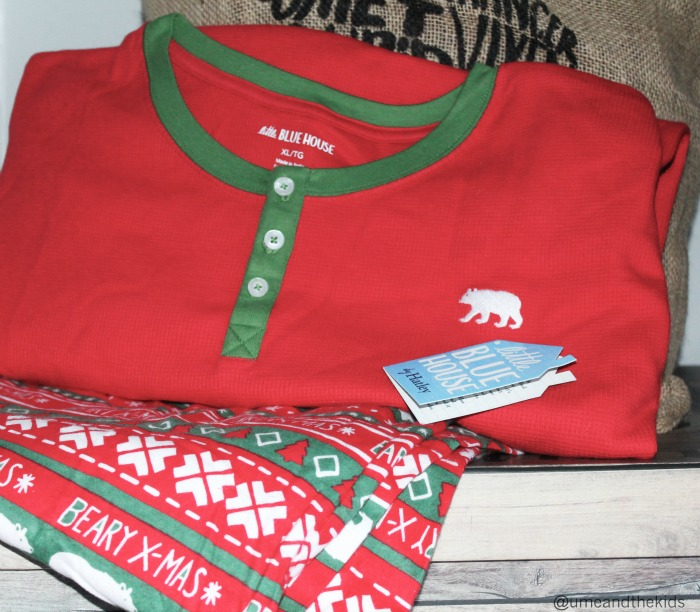 Hatley BEARY X-MAS MEN'S FLANNEL PJ BOTTOMS and Top