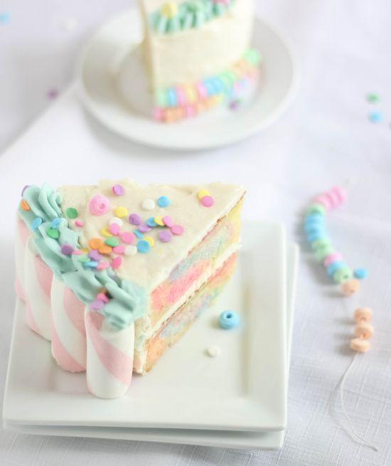Marshmallow Candy Swirl Cake