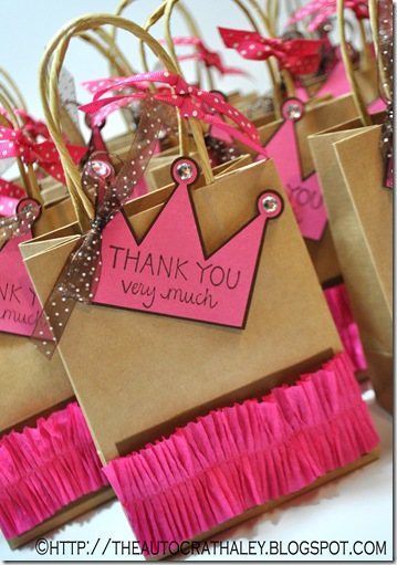 Princess party favors bag