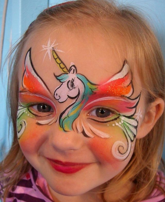 Unicorn Face Paint Idea