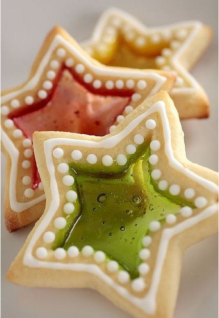 16 Awesome Christmas Day Dessert Recipes - Stained Glass Cookies