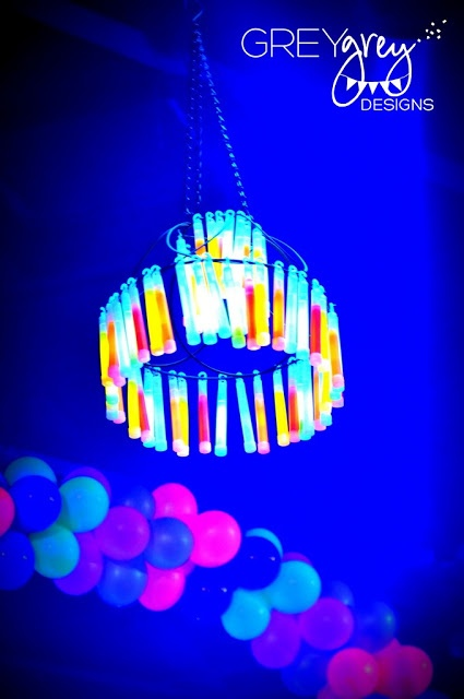 Glow in the dark chandelier