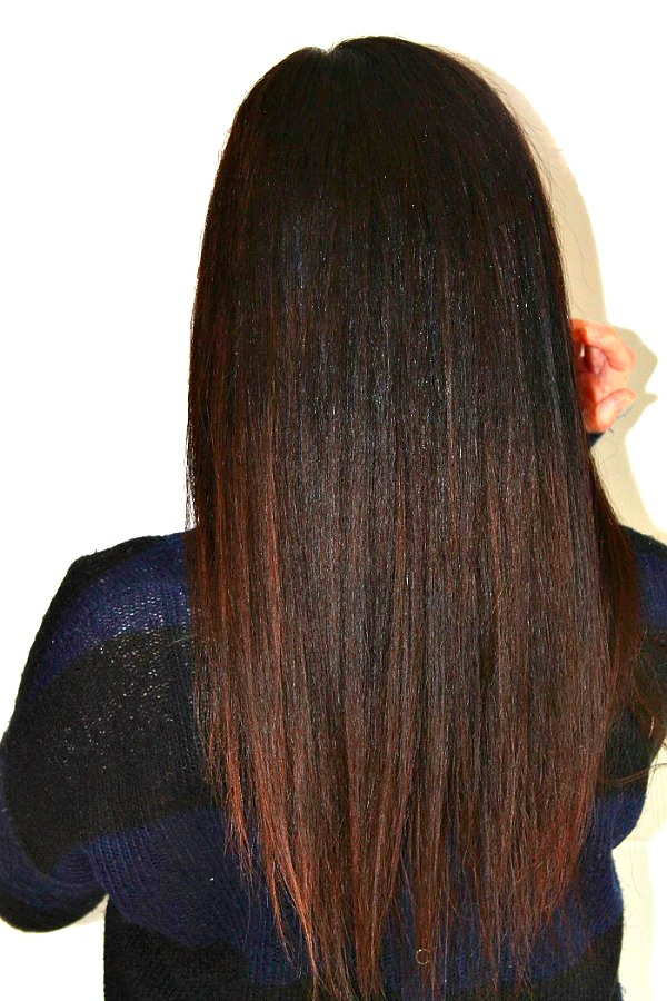 back of Hair after using Loreal Steampod