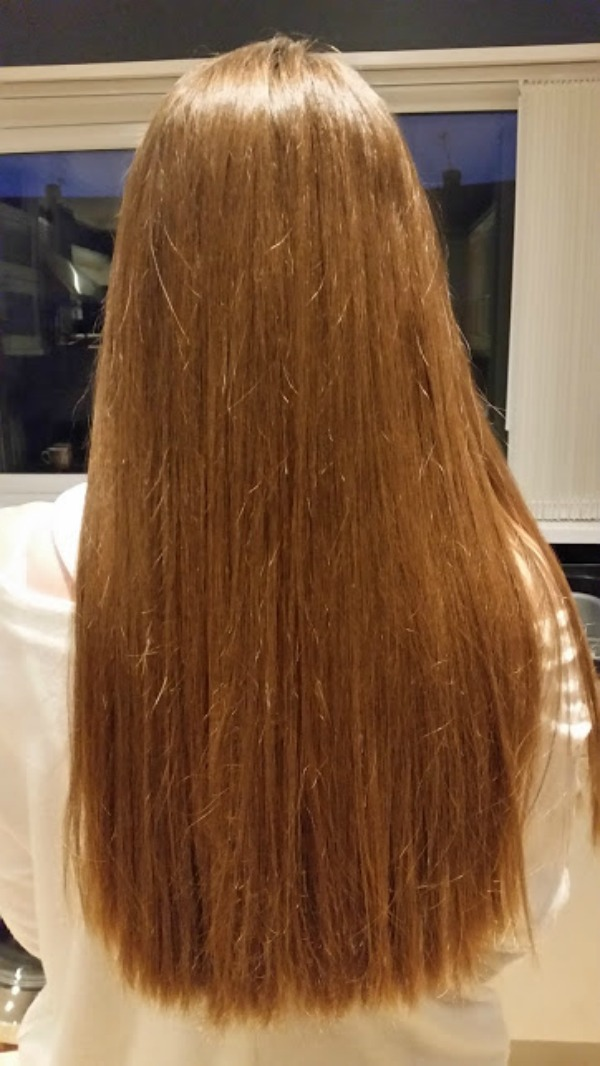 back of hair after using steampod on wavy hair