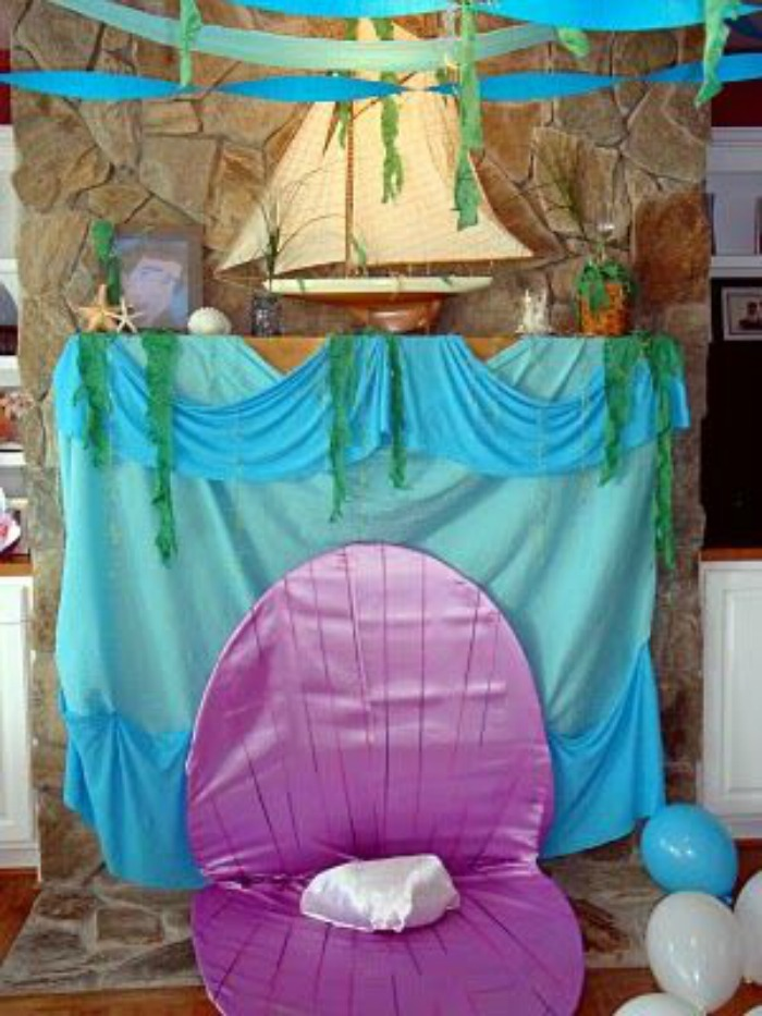 21 marvelous mermaid party ideas for kids for Ariel decoration party