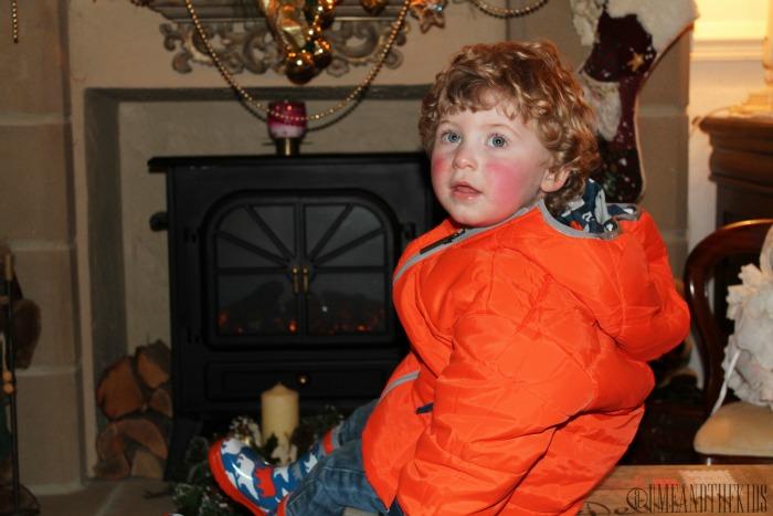 Childrens Clothing Hatley Reversible Polar Bear Puffer Jacket - Plain side