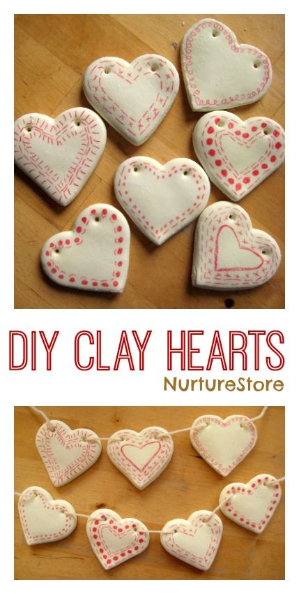 Valentines Day Ideas for Kids DIY Clay Heart