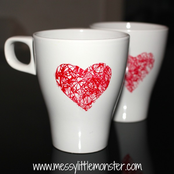 Valentines Day Ideas for Kids DIY Heart Scribble Mug