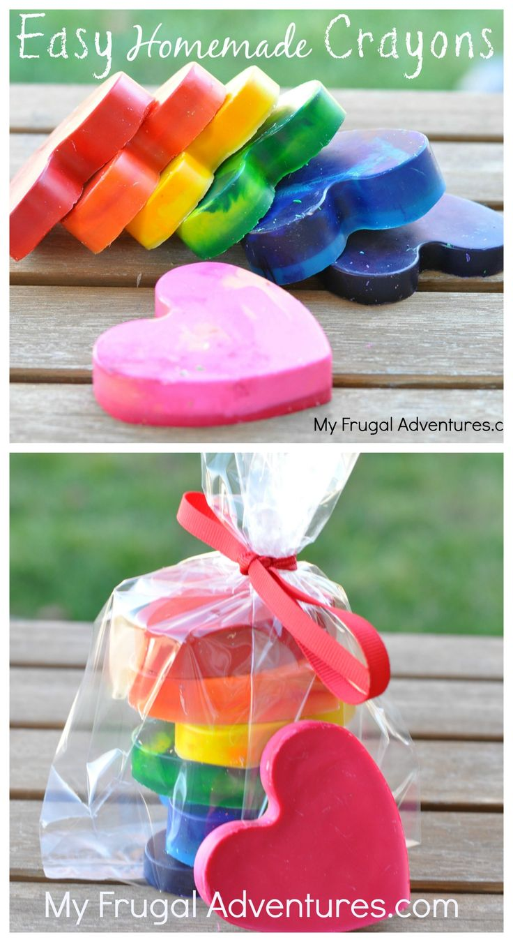 Valentines Day Ideas for Kids Homemade Heart Crayons