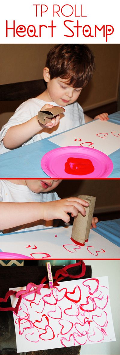 Valentines Day Ideas for Kids TP Roll Stamp