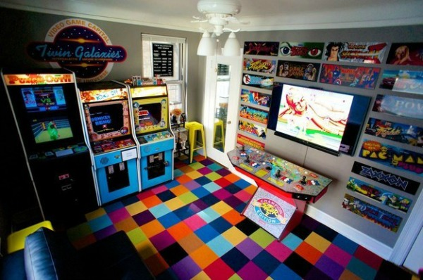 Video Game Room Ideas 80's Retro Arcade Room