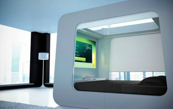 Video Game Room Ideas Bed Complete with remote-controlled blinds, an HD projector and an Xbox