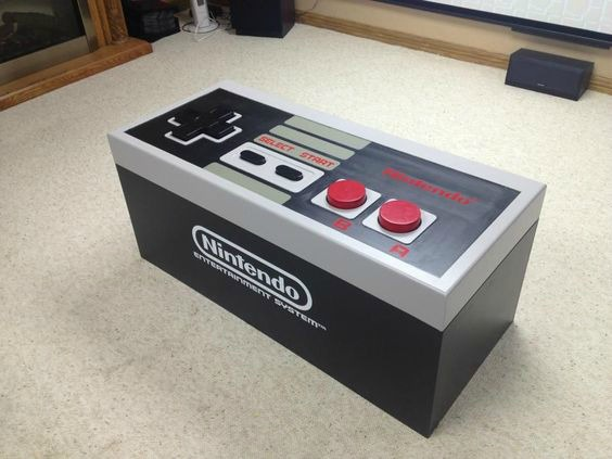 Video Game Room Ideas Giant NES Controller