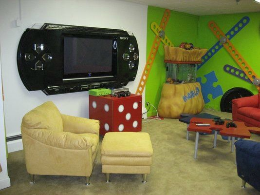 Video Game Room Ideas Giant PSP TV