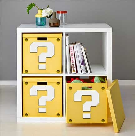 Video Game Room Ideas Mario Question Mark Shelfs