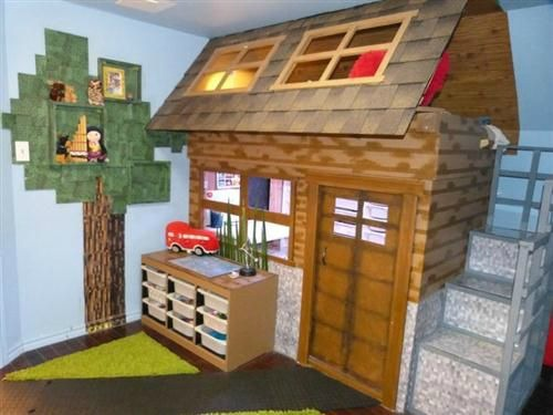 Video Game Room Ideas Minecraft Themed Bedroom