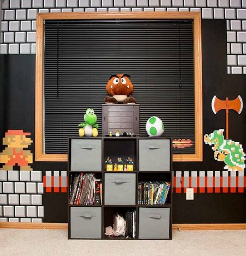 21 truly awesome video game room ideas u me and the kids for Cool gamer bedroom ideas
