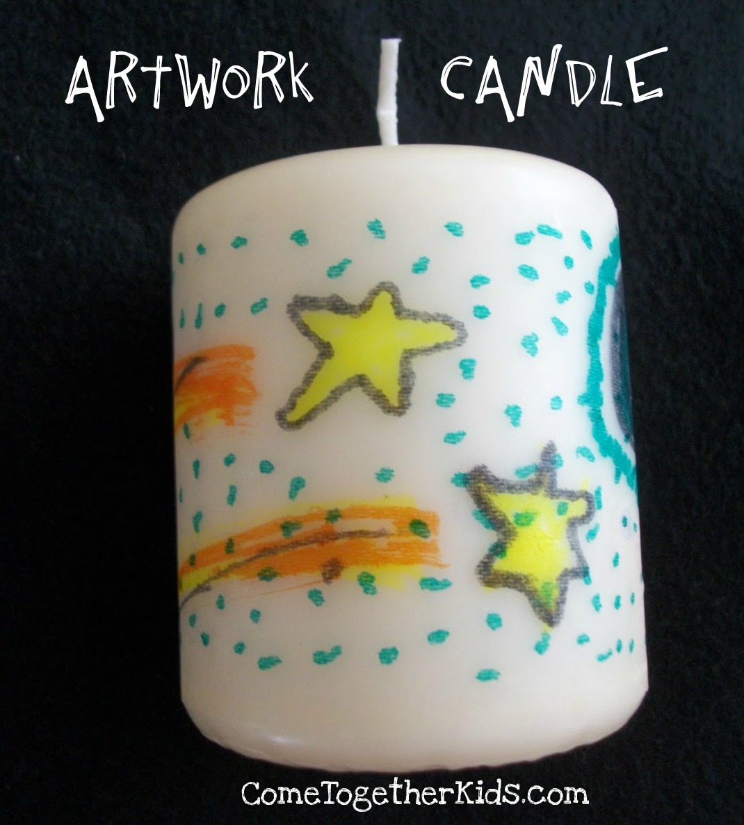Mothers Day Craft Ideas - Art Work Candle