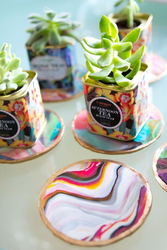 Mothers Day Craft Ideas - Marble Coasters