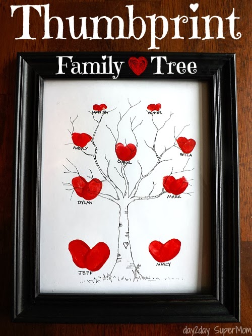 Mothers Day Craft Ideas - Thumb Print Family Tree