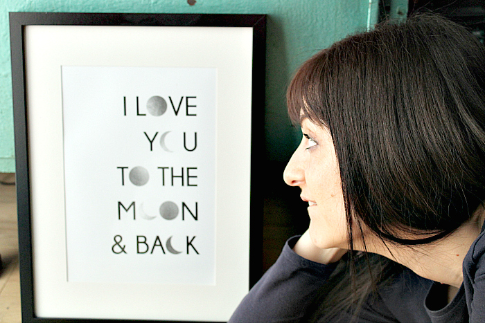 Perfect Gifts for Mother's Day -Personalised I love you to the moon and back Framed Print